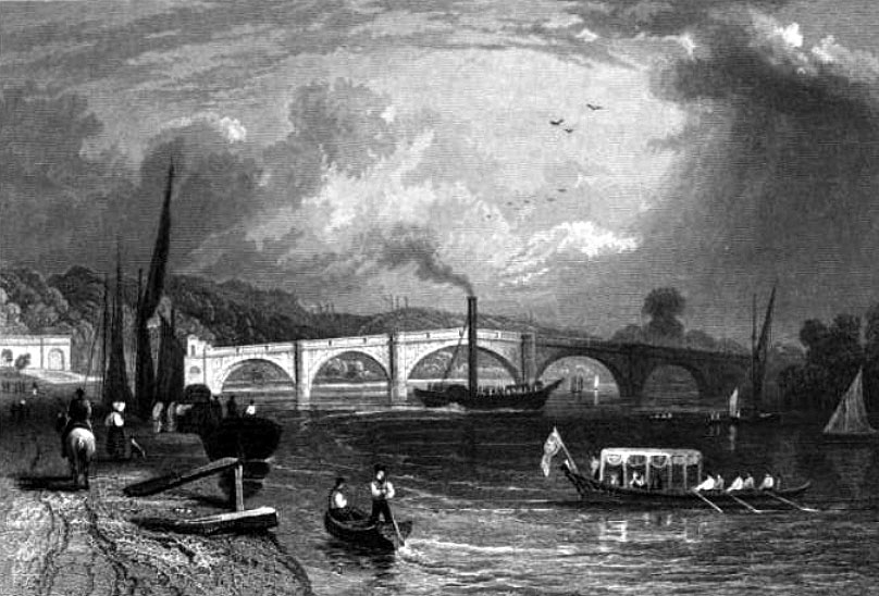 Richmond Bridge, 1834