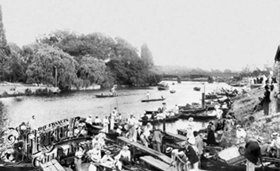 1896: Molesey Lock, Francis Frith