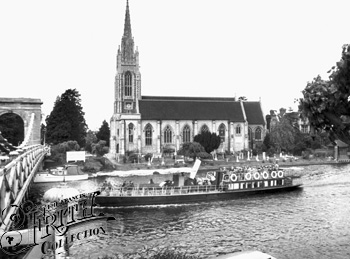 1955: Marlow Church and Bridge, Francis Frith