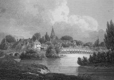 Marlow Bridge engraved by J. Greig from a drawing by T. Powell