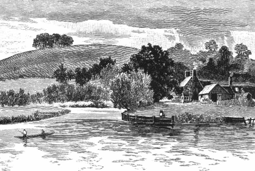 Sinodun Hill and Day's Lock, The Royal River, 1885